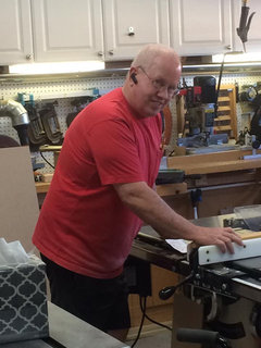 Mike table saw in shop