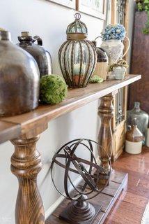 Diy farmhouse console table f015