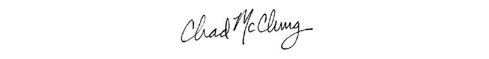 Chad McClung Signature