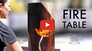 Tamar hannah burnt wood table project built in tray brass handles woodworking metalworking video