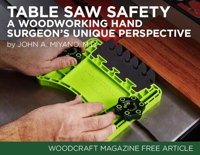 Table Saw Safety: A Woodworking Hand Surgeon's Unique Perspective- Dr. John A. Miyano, M.D.