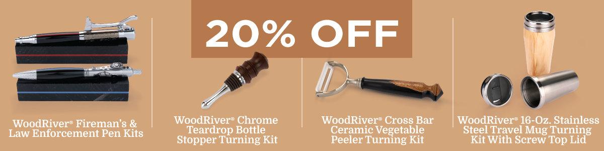 20% Off Select WoodRiver Turning Kits