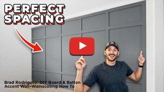 Brad rodriguez diy board batten wainscoting accent wall 500