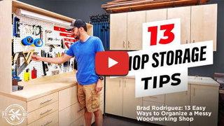 Brad rodriguez 13 ways organize a messy woodworking shop 500