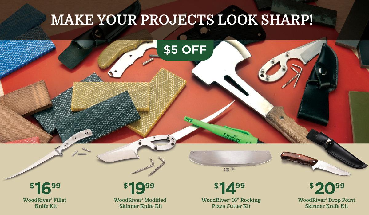 WoodRiver Knife Kits on Sale