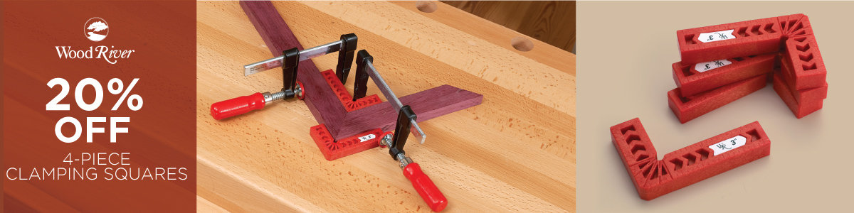 20% Off WoodRiver 4-Piece Clamping Squares