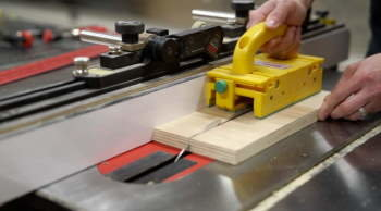 There are many jigs and accessories to help ensure safe table saw operations.