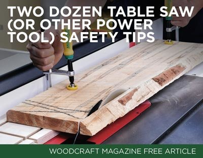 Here are two dozen table saw safety tips!