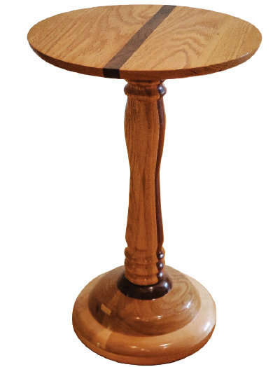 Woodturning project furniture making side table.