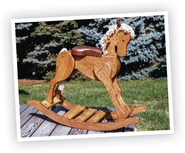 Rocking horse Toy making Woodworking project.