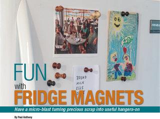 Fridge magnet woodworking project