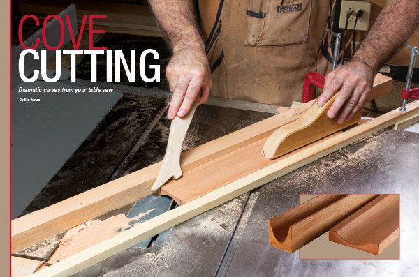 How to make sweeping cove mouldings on the table saw.