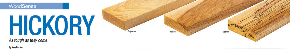 Woodcraft Magazine WoodSense- Information about tough hickory wood.