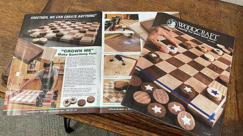 CNC Woodworking Project to Build a Checkerboard Game Board