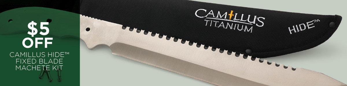 $5 Off Camillus HIDE Fixed Blade Machete Kit