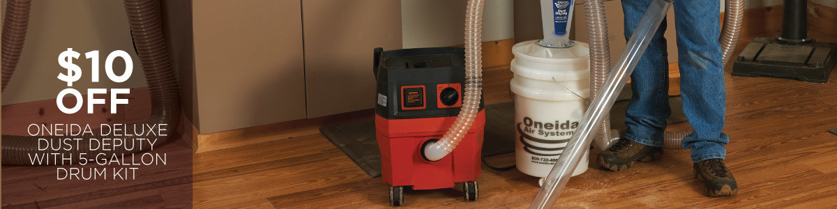 $10 Off Oneida Air Systems - Deluxe Dust Deputy with 5-Gallon Drum Kit