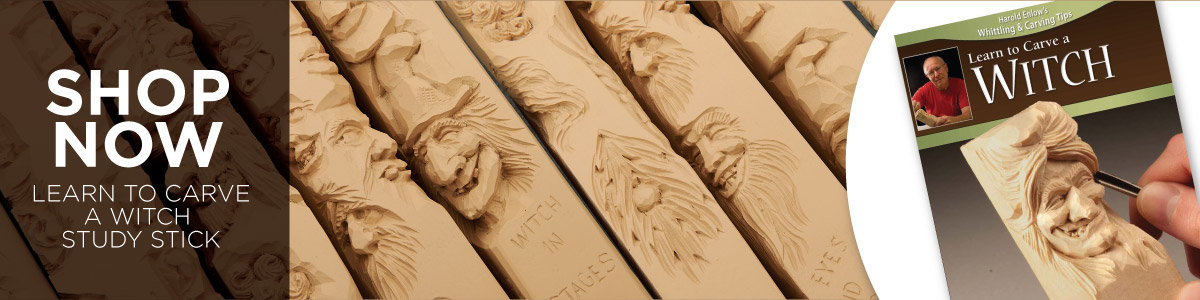 Learn To Carve with a Witch Study Stick