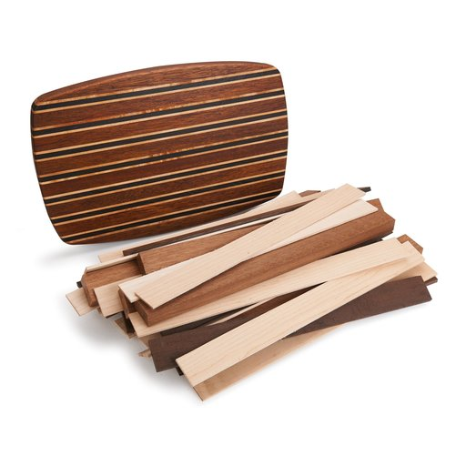 """View a Larger Image of 1-1/2"""" x 10"""" x 16"""" Angelique, Hard Maple & Wenge Exotic Cutting Board Kit"""