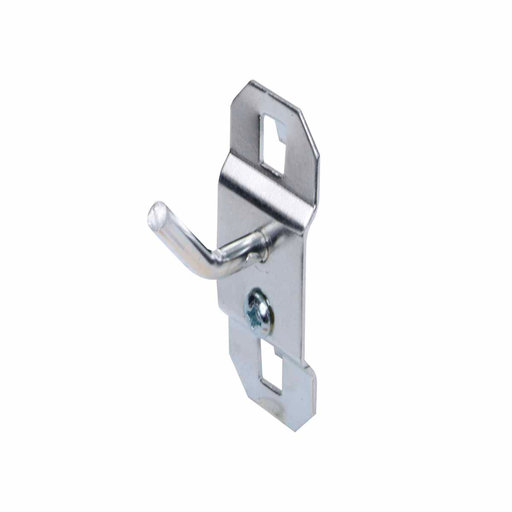View a Larger Image of 1/2 In. Single Rod 30 Degree Bend 3/16 In. Dia. Zinc Plated Steel Pegboard Hook for LocBoard, 5 Pack