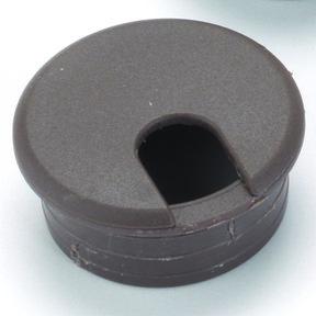 """1-3/4"""" Cable Management Plastic Grommet Brown"""