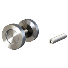 """1-31/32"""" (50 mm) Round Surface-Mount Finger Pulls Stainless Steel Passage"""