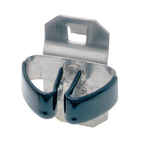 View a Larger Image of 1/4 In. to 1/2 In. Hold Range 2-3/4 In. Proj. Vinyl Dipped Stainless Steel Standard Spring Clip for SS LocBoard, 3 Pack