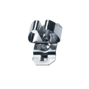 1/4 In. to 1/2 In. Hold Range 2-3/4 In. Projection Stainless Steel Standard Spring Clip for Stainless Steel LocBoard, 3