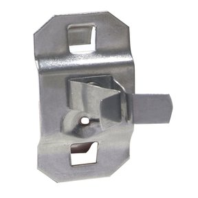 1/4 In. to 1/2 In. Hold Range 7/8 In. Projection Stainless Steel Extended Spring Clip for Stainless Steel LocBoard, 3 Pa