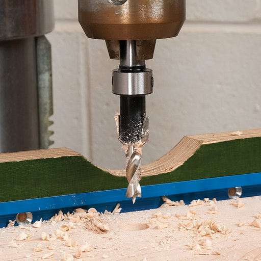 """View a Larger Image of 1/4"""" x 1/2"""" Carbide-Tipped Countersink With Brad Point Drill Bit"""