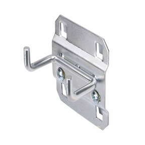 1 In. Double Rod 90 Degree Bend 3/16 In. Dia. Zinc Plated Steel Pegboard Hook for LocBoard, 5 Pack