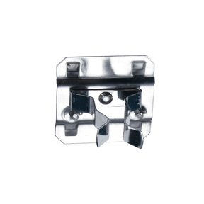 1 In. to 2 In. Hold Range 2 In. Projection, Stainless Steel Extended Spring Clip for Stainless Steel LocBoard, 3 Pack