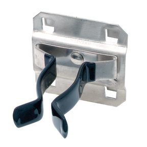 1 In. to 2 In. Hold Range 2 In. Projection, Vinyl Dipped Stainless Steel Extended Spring Clip for SS LocBoard, 3 Pack