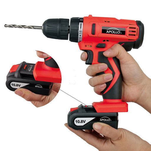 View a Larger Image of 10.8 V Lithium-Ion Cordless Drill with 30 Piece Accessory Se