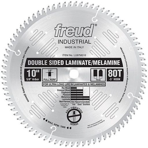 """View a Larger Image of 10"""" Double Sided Laminate/Melamine Blade"""
