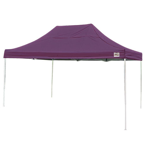 View a Larger Image of 10 ft. x 15ft. Pro Pop-up Canopy Straight Leg, Purple Cover