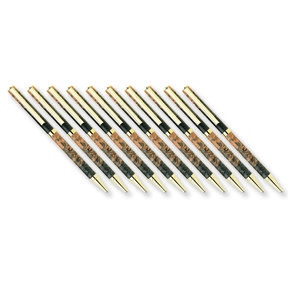 7mm Slim Style Solid Clip Ballpoint Pen Kit - Cobalt Gold 10 Piece