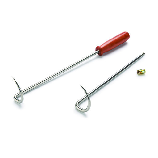 """View a Larger Image of 10"""" Stainless Steel BBQ Pig Tail Flipper Turning Kit - 2 Piece"""