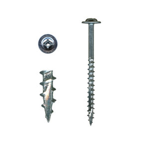 "Cabinet Installation Screws - #10 x 2-1/2"" Combo Drive - Washer Head - Zinc - 100 Piece"