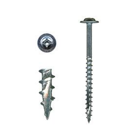 "Cabinet Installation Screws - #10 x 2-1/2"" Combo Drive - Washer Head - White - Zinc - 100 Piece"