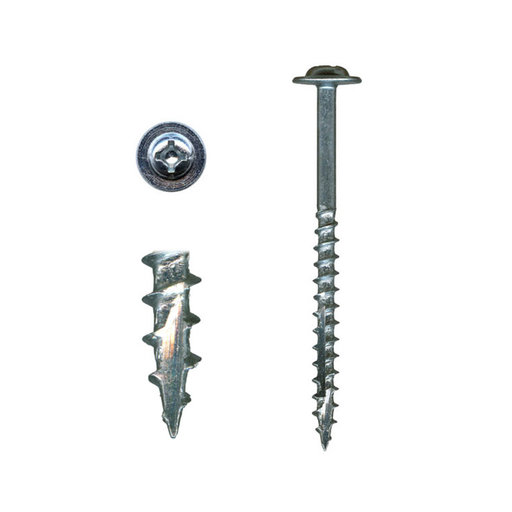 """View a Larger Image of 10 x 3"""" Cabinet Installation Screws Washer Head Combo Drive Zinc 100 pc"""
