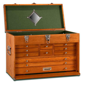 T-24 11-Drawer Top Chest, Red Oak