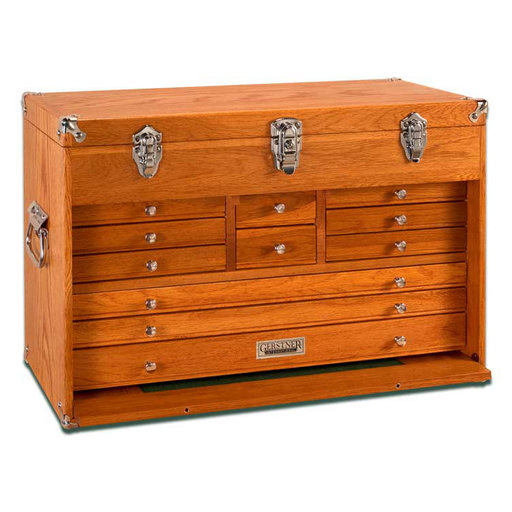 View a Larger Image of T-24 11-Drawer Top Chest, Red Oak