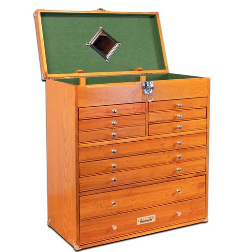 View a Larger Image of T-22 11-Drawer Tool Chest, Red Oak