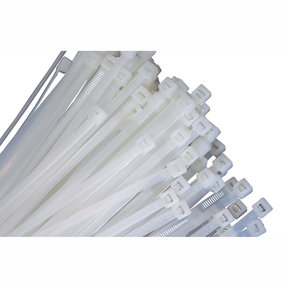 """11"""" Long Heavy Duty Natural Nylon Ties, with 50 lb Tensile Strength, 100/pk"""