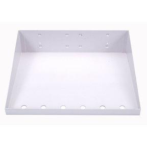 12 In. W x 10 In. D White Epoxy Powder Coated LocBoard Steel Shelf with 6 Holes