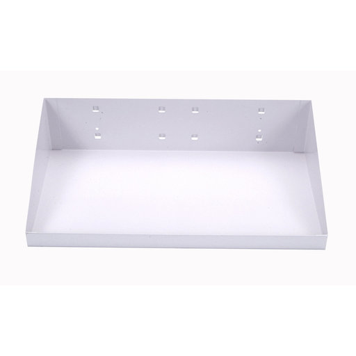 View a Larger Image of 12 In. W x 6 In. D White Epoxy Powder Coated Steel Shelf for LocBoard
