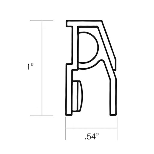"View a Larger Image of Mini Floating Shelf Bracket 12"" L"