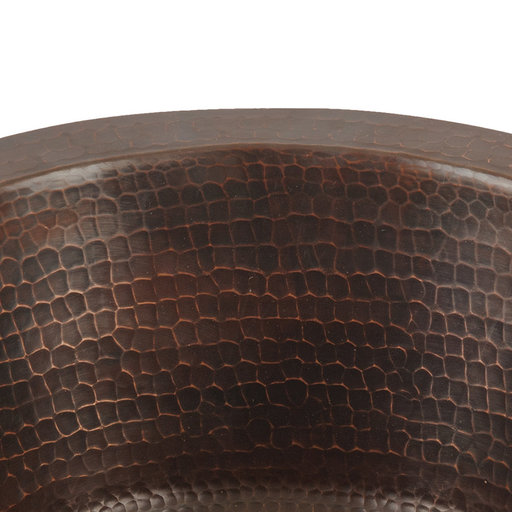 """View a Larger Image of 12"""" Round Hammered Copper Bar Sink w/ 2"""" Drain Size"""