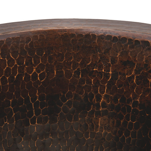 """View a Larger Image of 12"""" Round Hammered Copper Champagne Bar/Prep Sink"""