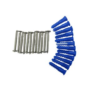 12 Steel Screws & 12 Plastic Wall Anchors for Mounting Stainless Steel Pegboard System LB2-S, LB2-Skit, LB18-S & LB18S-K